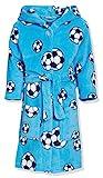 Playshoes Jungen Fleece Fußball Bademantel, Blau...